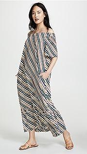 ASCENO Платье с открытыми плечами