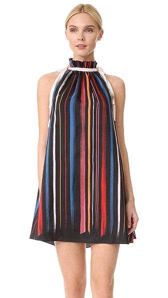 Adam Selman Шелковое платье-трапеция