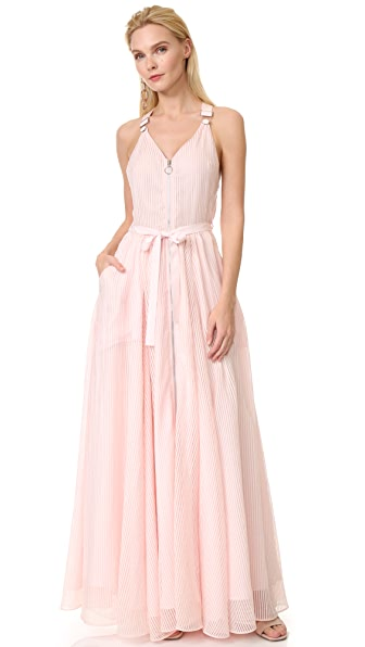 Adam Selman Long Overall Gown