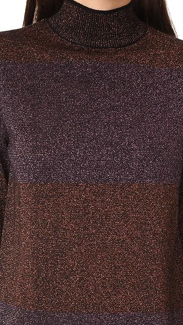 Adam Selman Glit Her Stripe Mini Dress
