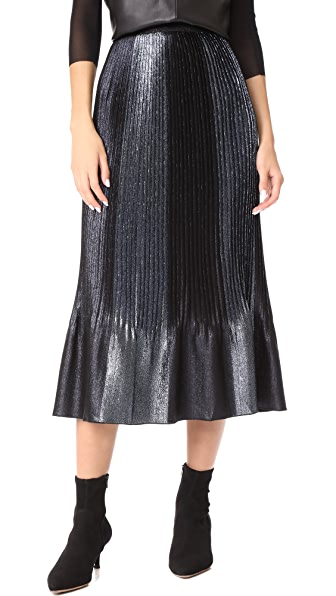 Adam Selman Topiary Pleated Skirt