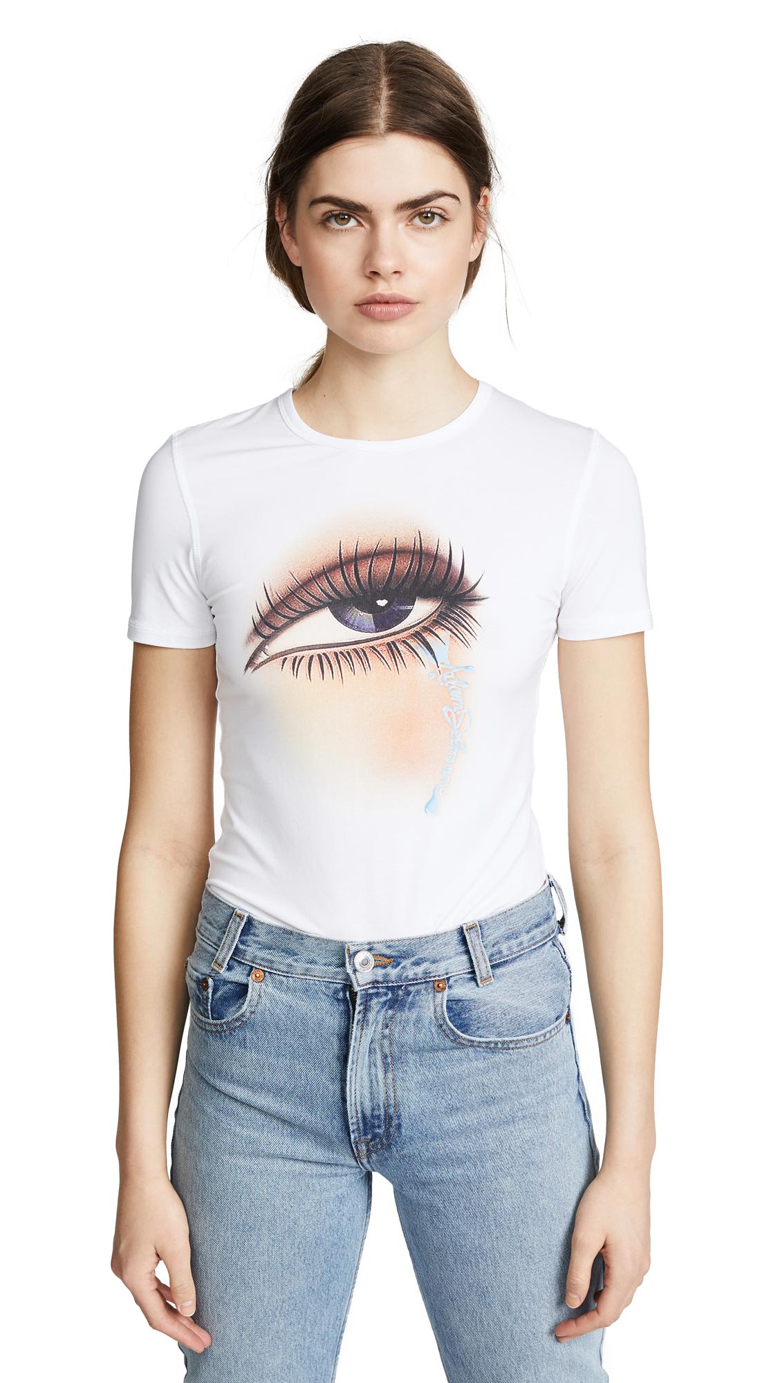 ADAM SELMAN Eye print t shirt
