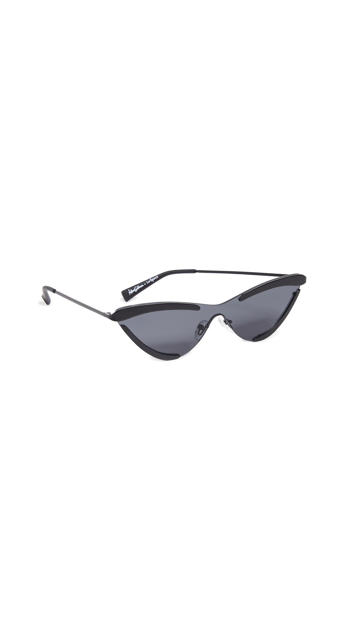 ADAM SELMAN The Scandal Sunglasses in Satin Black