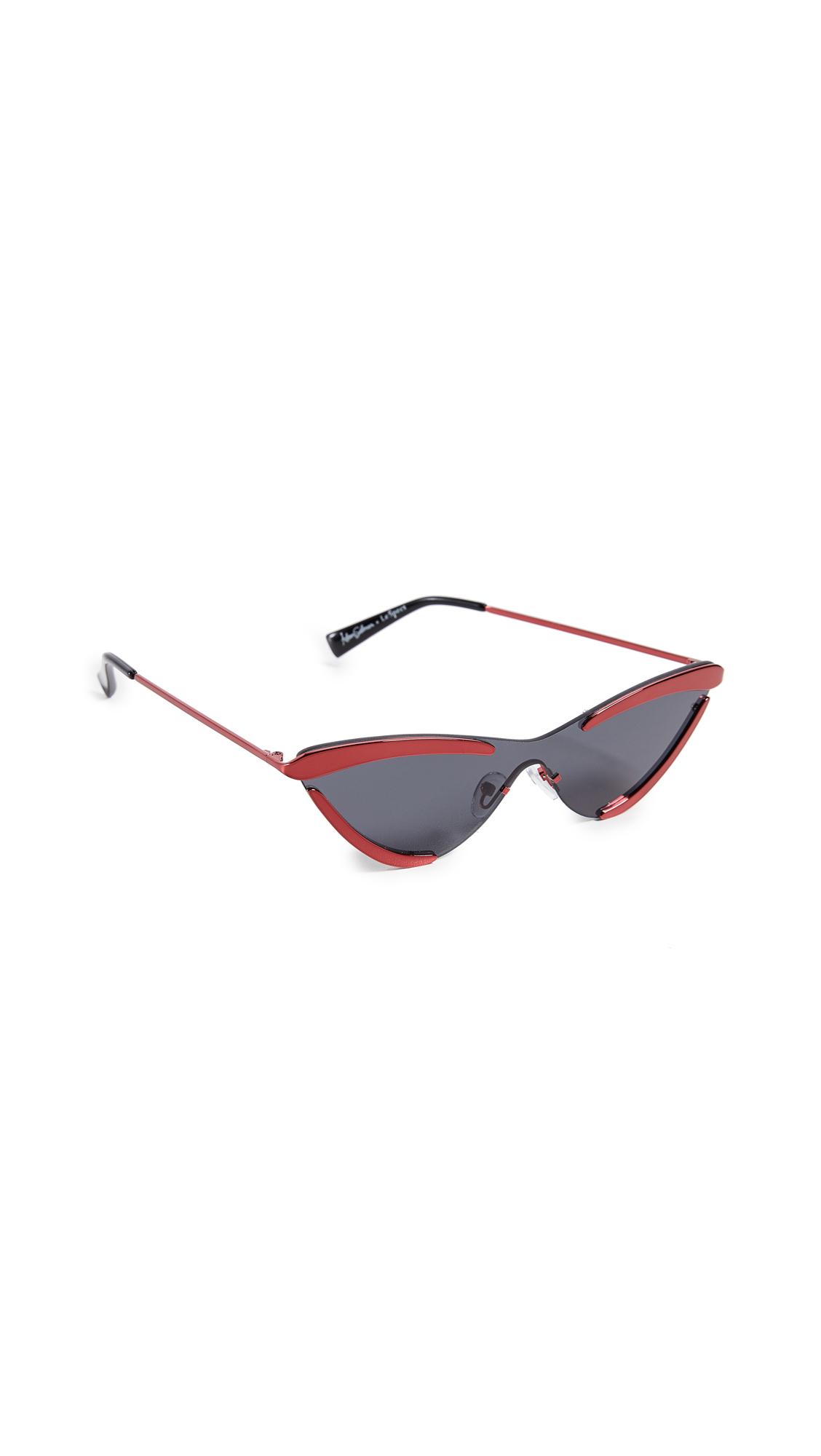 ADAM SELMAN The Scandal Sunglasses in Metallic Red