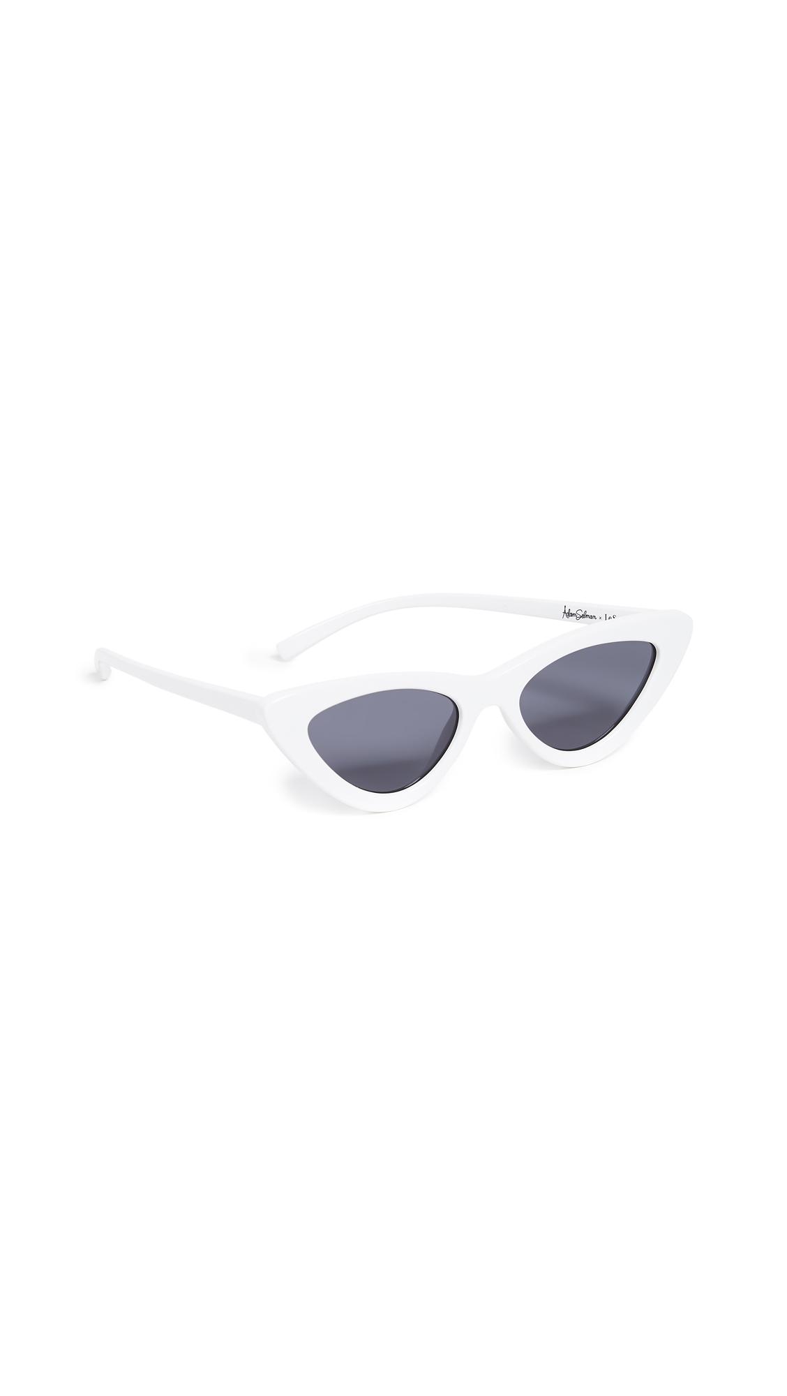 ADAM SELMAN The Last Lolita Sunglasses in White