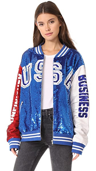 ASHISH USA Dodgers Varsity Jacket - Red/White/Blue