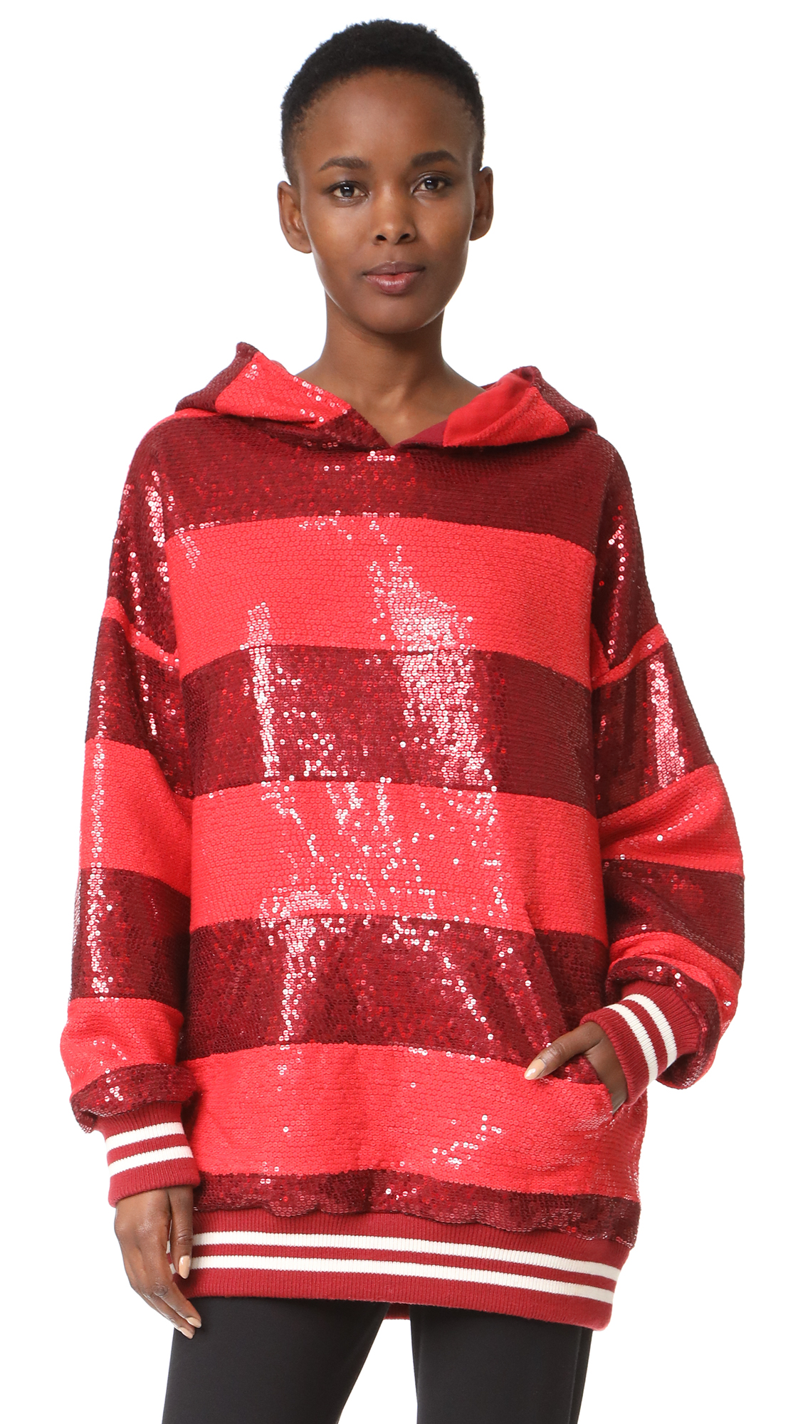 ASHISH Sequin Rugby Oversize Sweatshirt