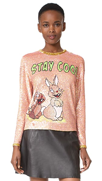ASHISH Stay Cool Top - Golden Pink