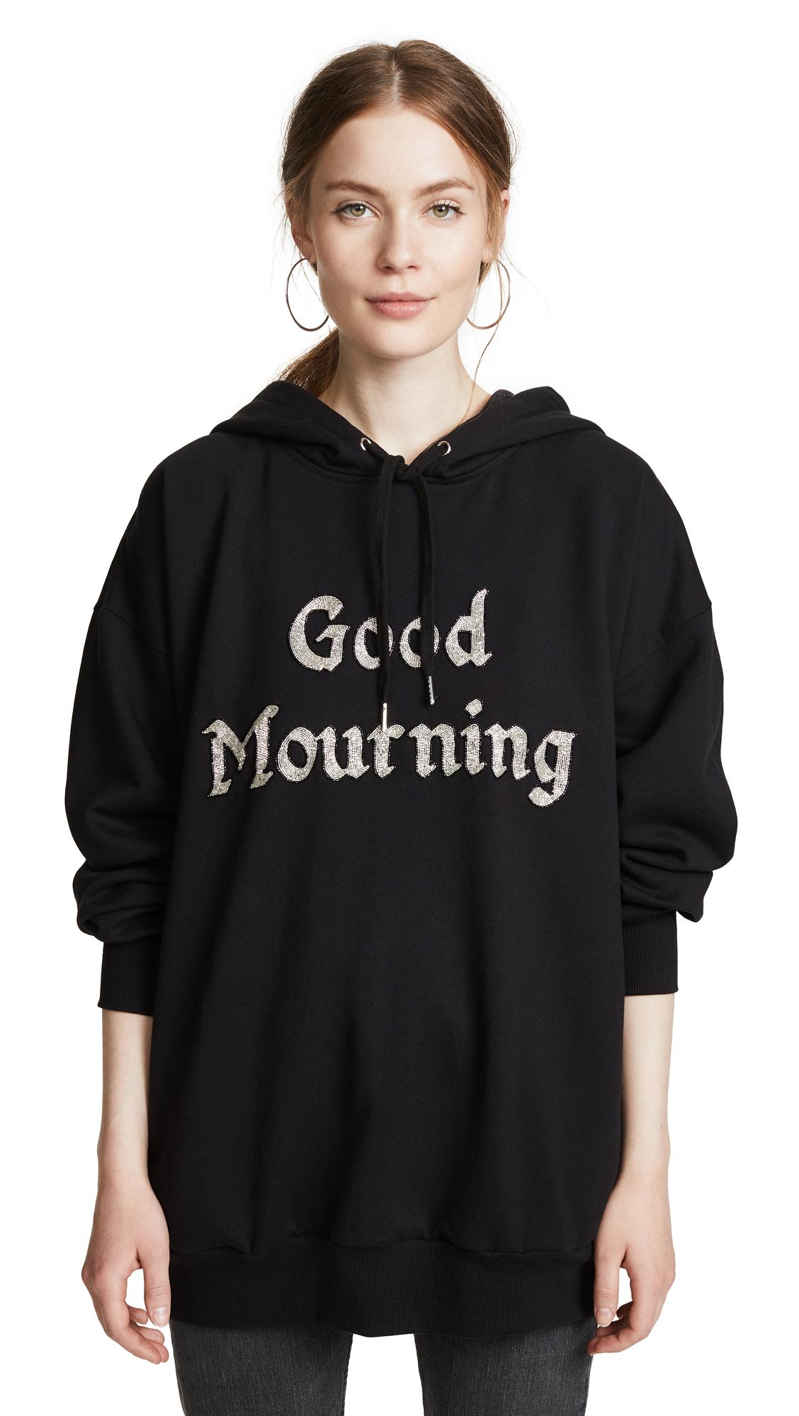 ASHISH Good Mourning Beaded Hoodie