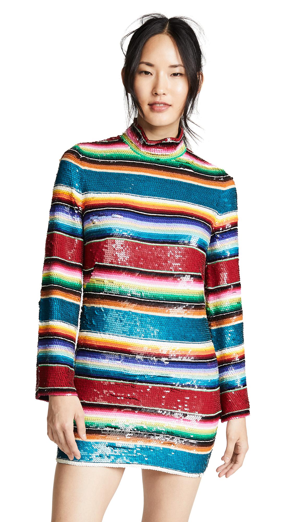 ASHISH Sequin Flare Sleeve Mini Dress