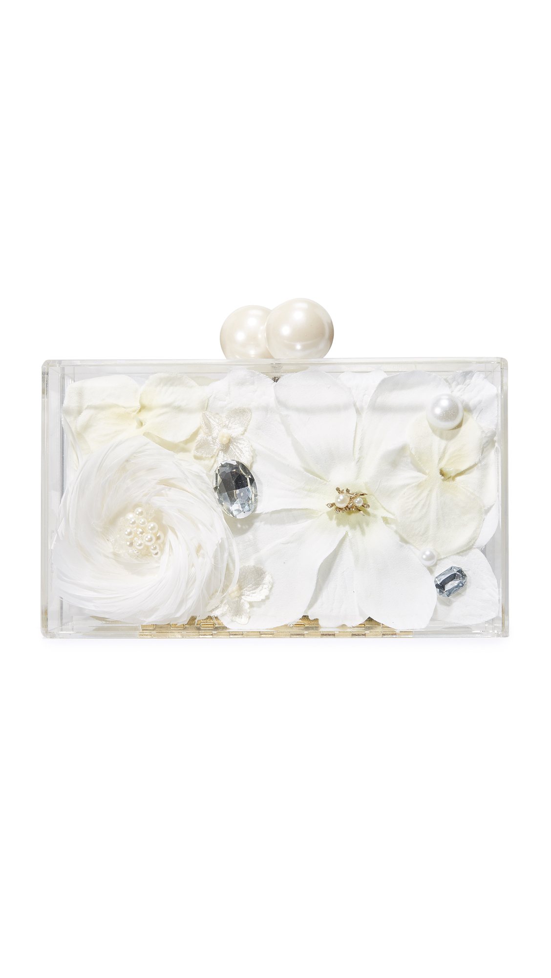 ashlynd Blossom Clutch - Antique White