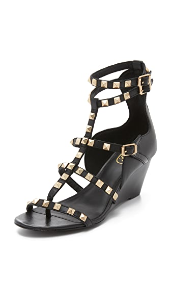 Ash Dafne Wedge Sandals - Black at Shopbop