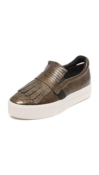 Ash King Platform Loafers - Army/Bronze/Black at Shopbop