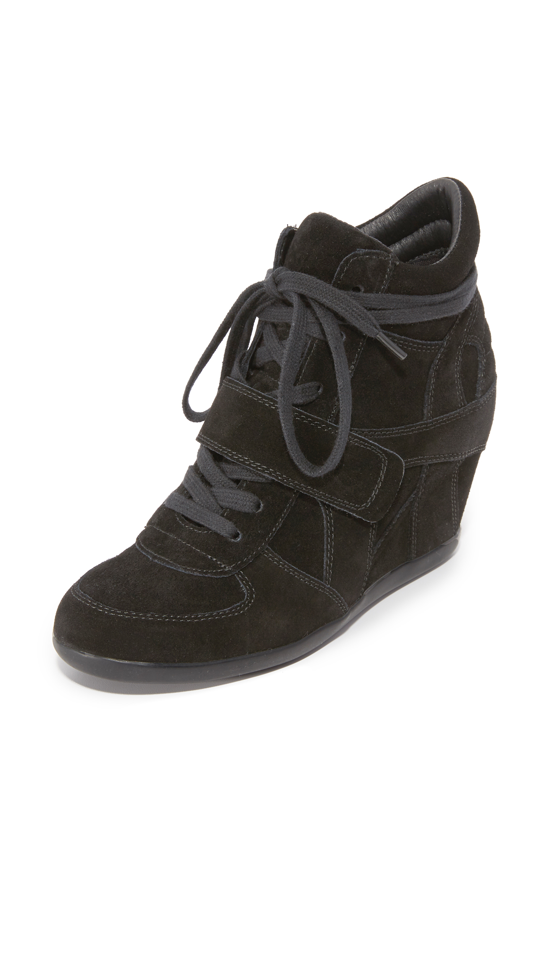 Ash Bowie Wedge Sneakers - Black