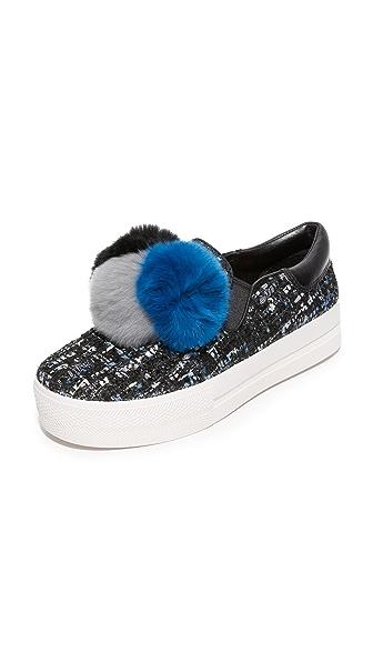 Ash Joy Slip On Sneakers - Black/Blue/Black at Shopbop