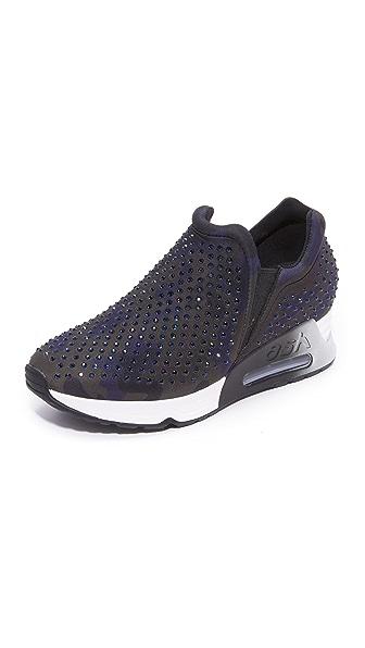Ash Lunare Platform Slip On Sneakers - Grey at Shopbop