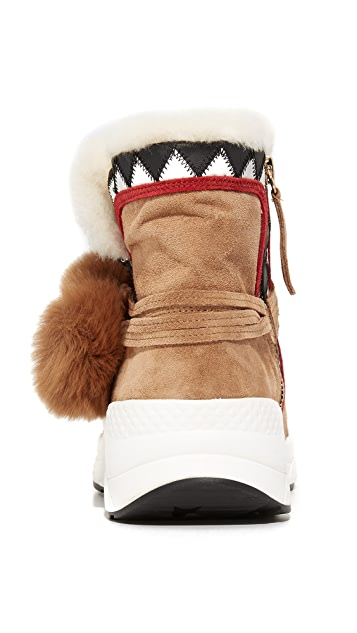 Ash Mongolia Sherpa Booties