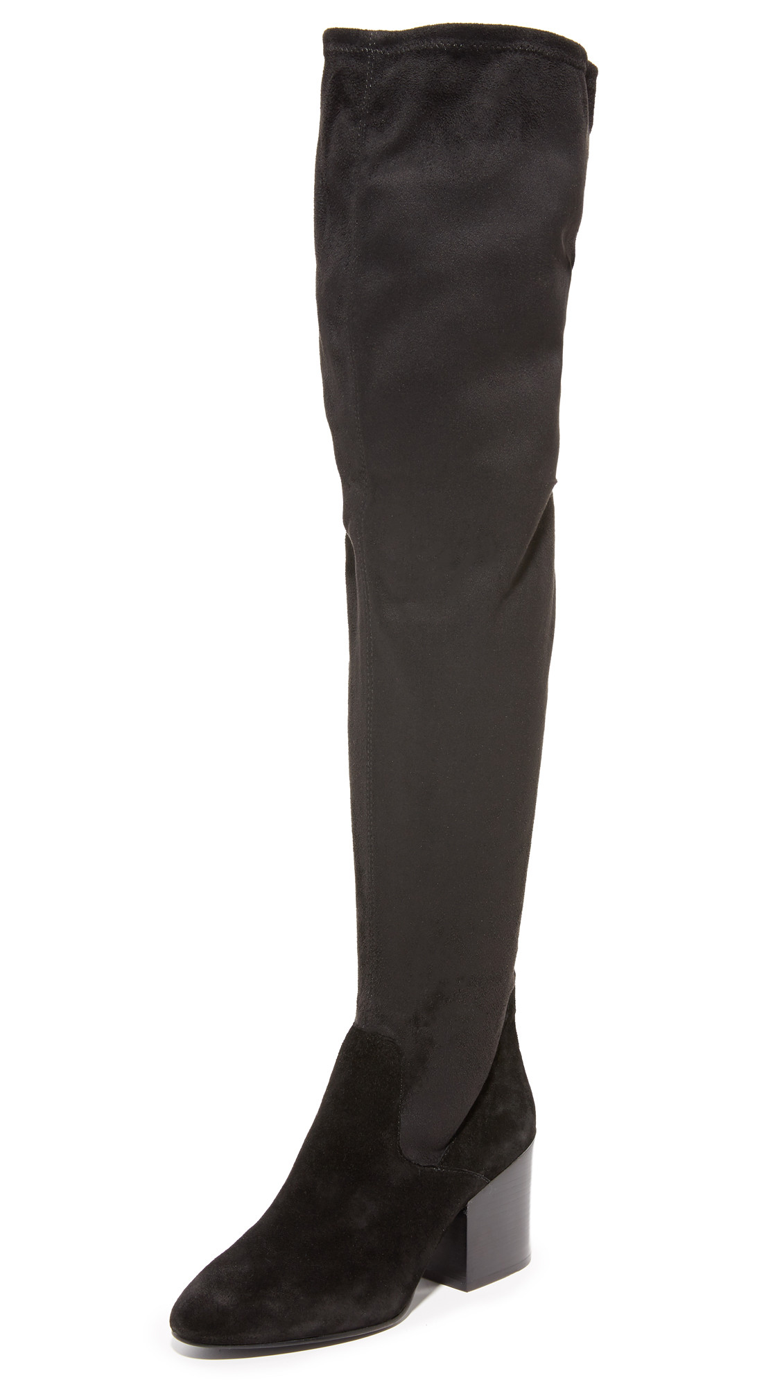 Ash Elisa Thigh High Boots - Black