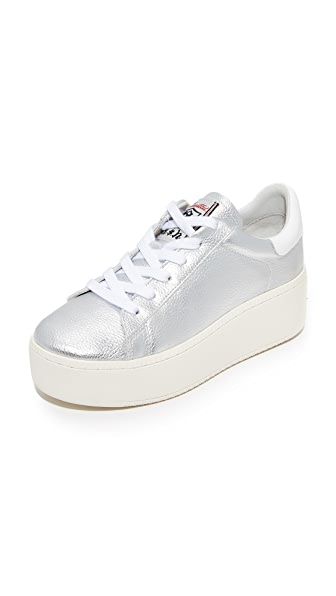Ash Cult Platform Sneakers - Silver/White