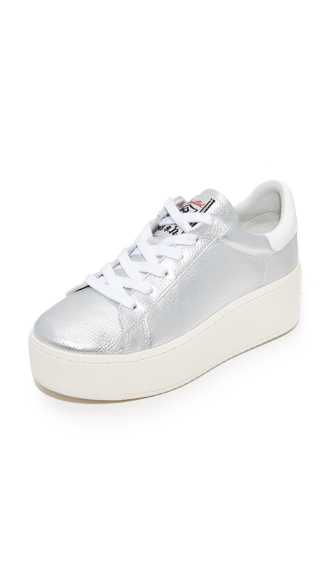 Ash Cult Platform Sneakers - Silver/White at Shopbop