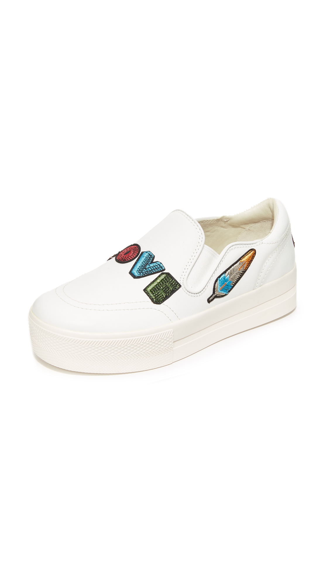 Ash Jess Platform Slip On Sneakers - White/White at Shopbop