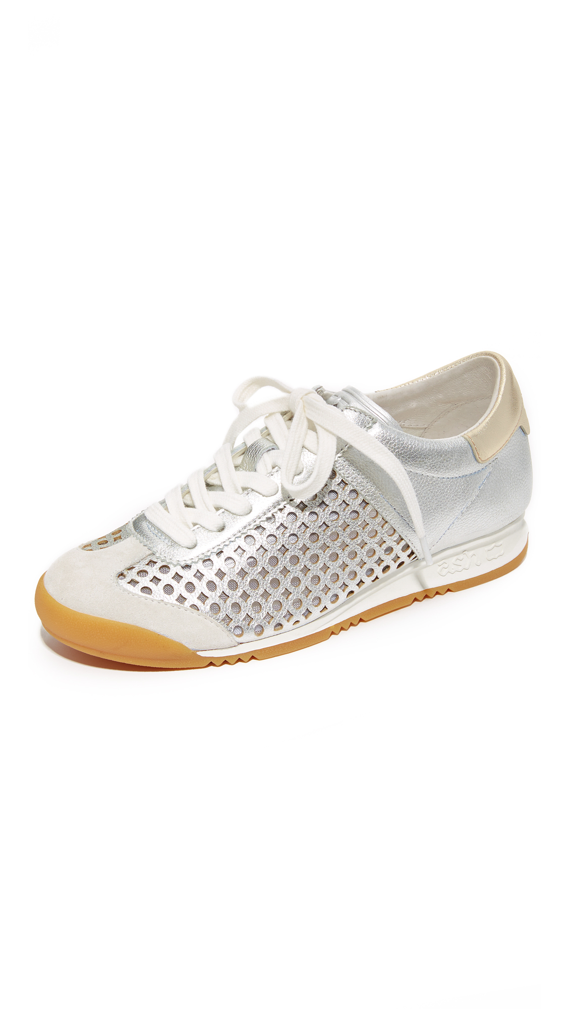 Ash Spin Sneakers - Off White/Silver at Shopbop