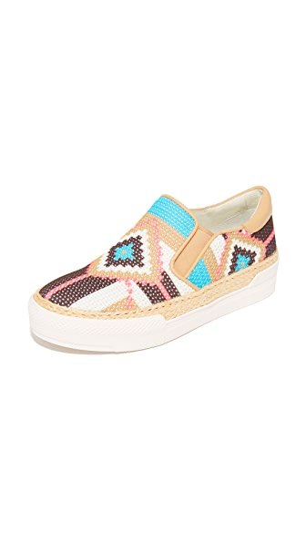 Ash Colombia Slip On Sneakers - Sky/Sand