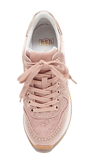 Ash Blush Wedge Sneakers