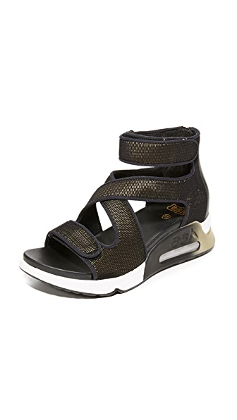 Ash Lips Active Sandals - Black/Army