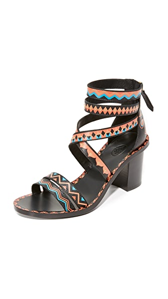 Ash Papaya Sandals - Black