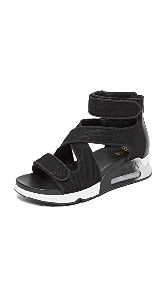 Ash Lips Demi Wedge Sandals - Black