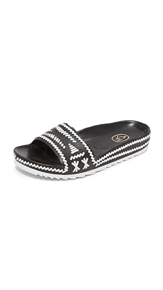 Ash Ulla Slide Sandals - Black/White