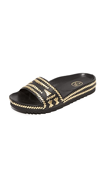 Ash Ulla Slide - Black/Gold
