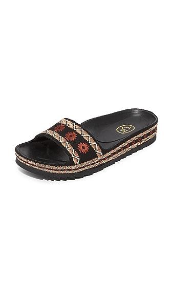 Ash Uma Slide Sandals - Black