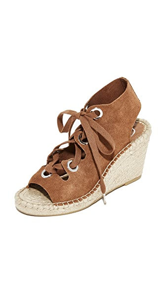 Ash Patty Lace Up Wedges - Tan