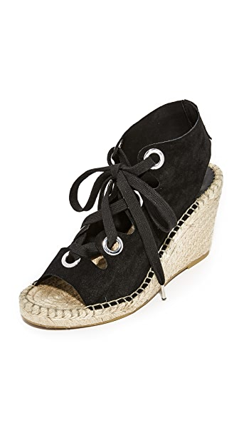 Ash Patty Lace Up Wedges - Black