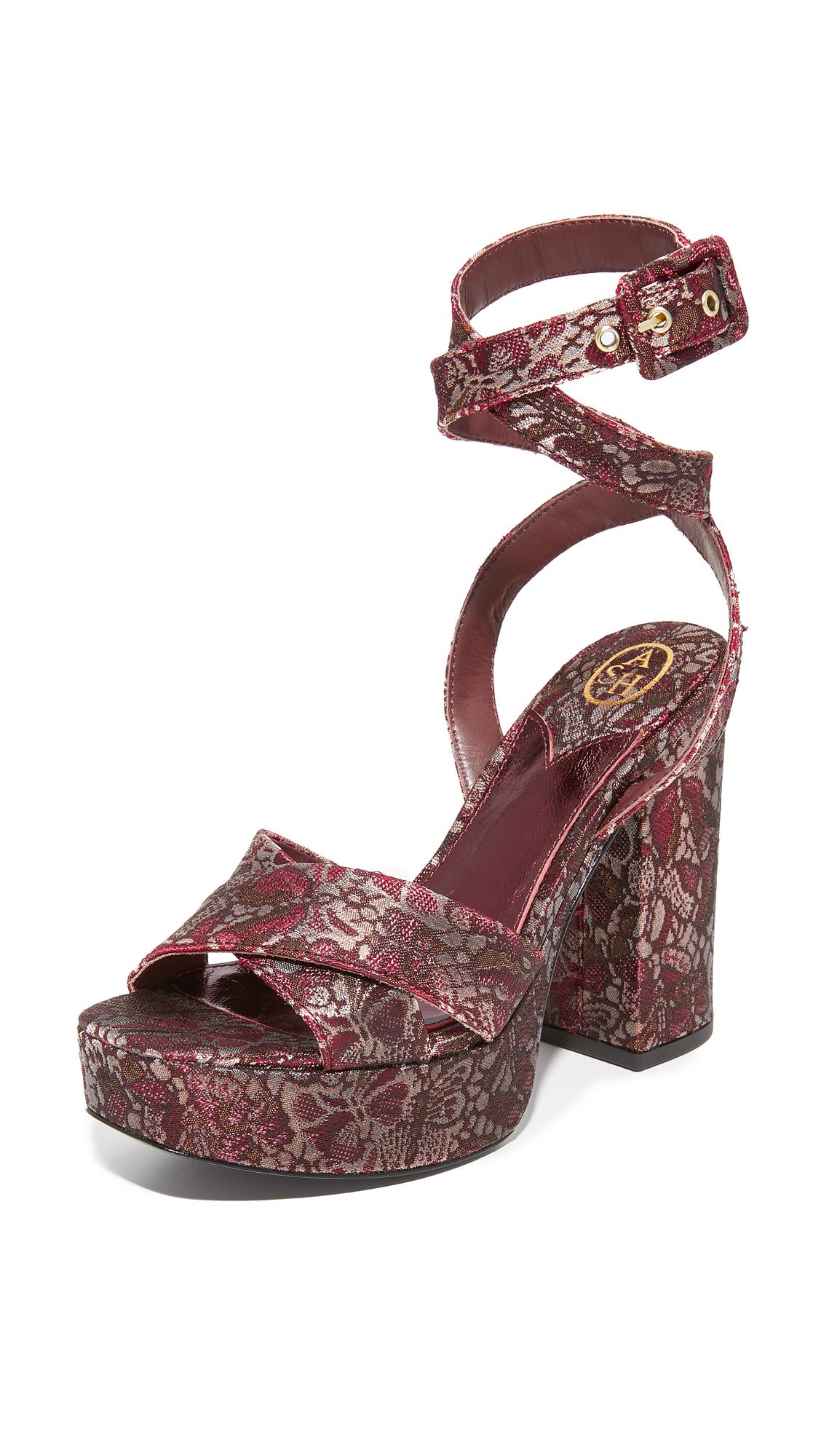 Ash Boom Platform Sandals - Bordeaux