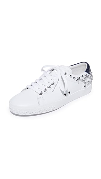 Ash Dazed Studded Sneakers In White/Midnight