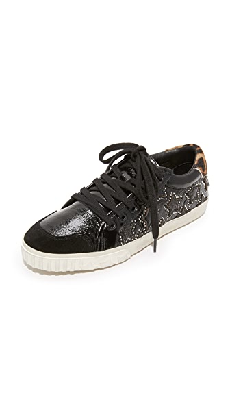 Ash Majestic Bis Sneakers In Black/Black/Silver