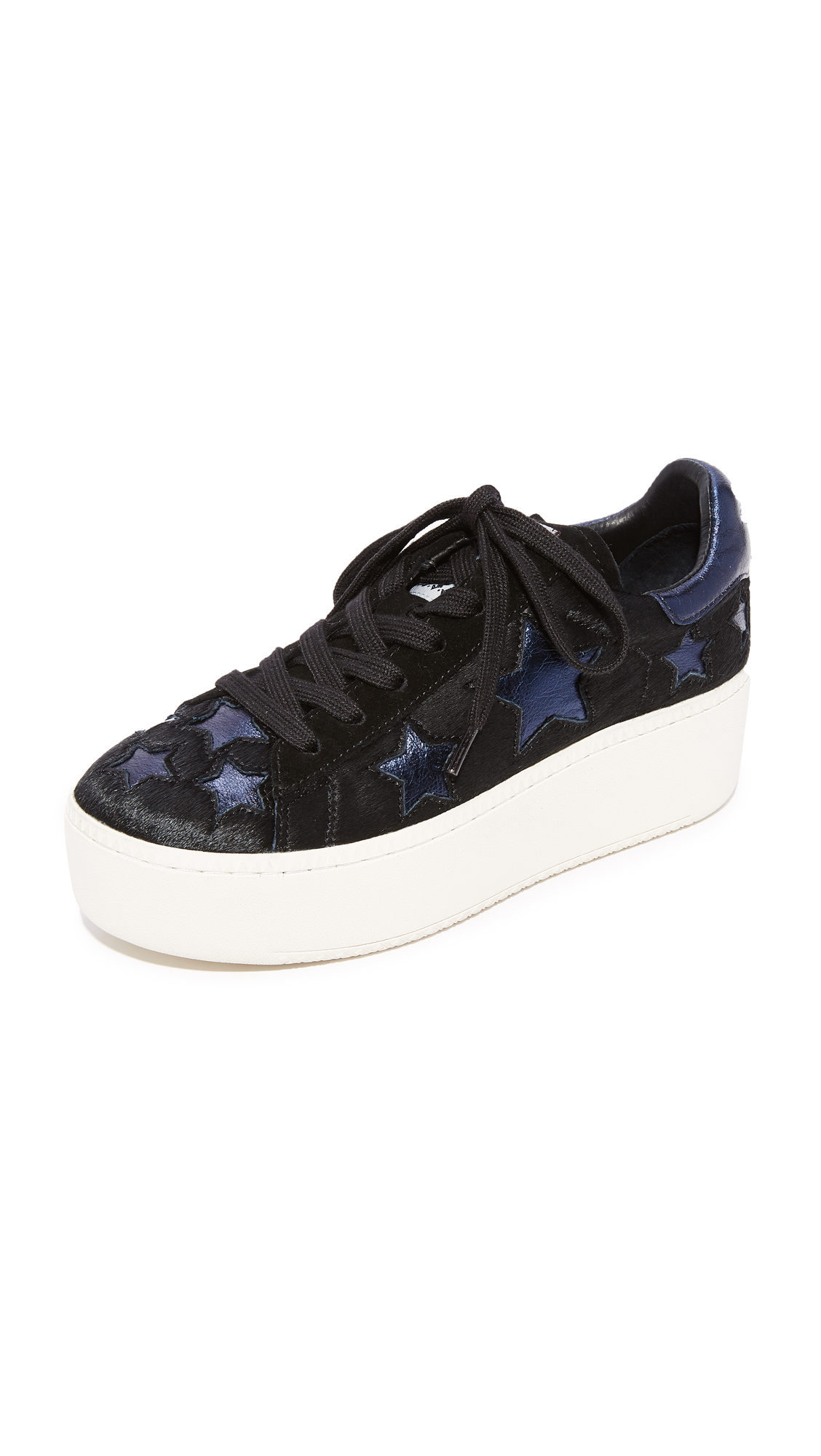 Ash Cult Star Platform Sneakers - Black/Midnight