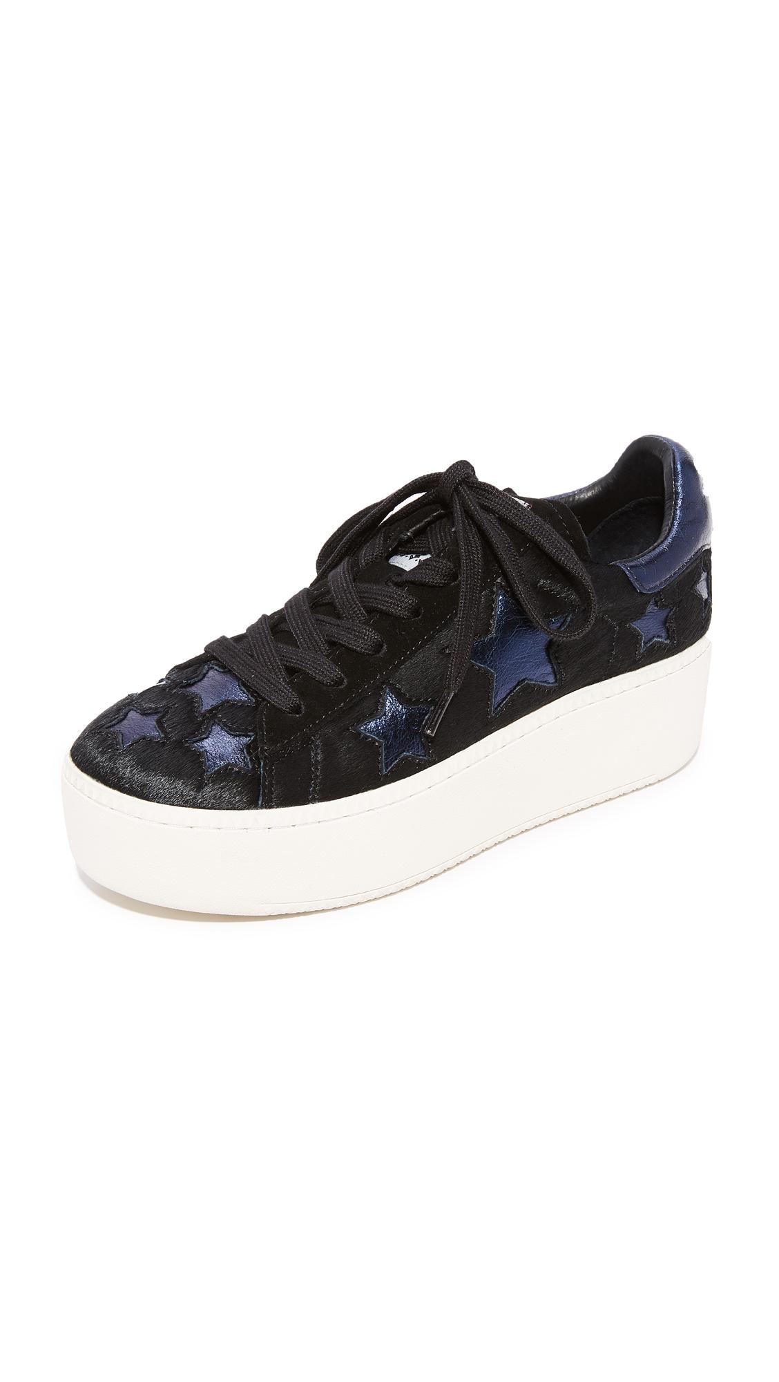 Ash Cult Star Platform Sneakers - Black/Midnight