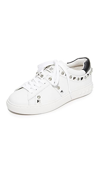 Ash Play Studded Sneakers - White/Black