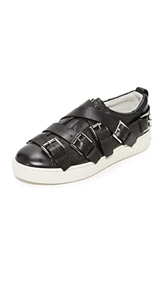 Ash Premium Buckle Sneakers - Black