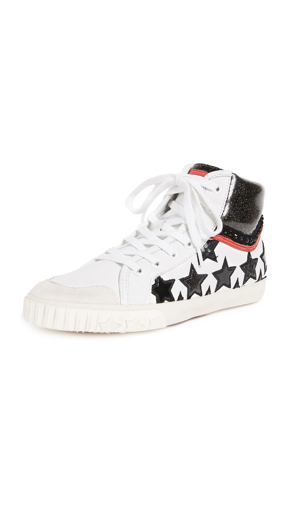 Ash Musik Star Sneakers - White/Red