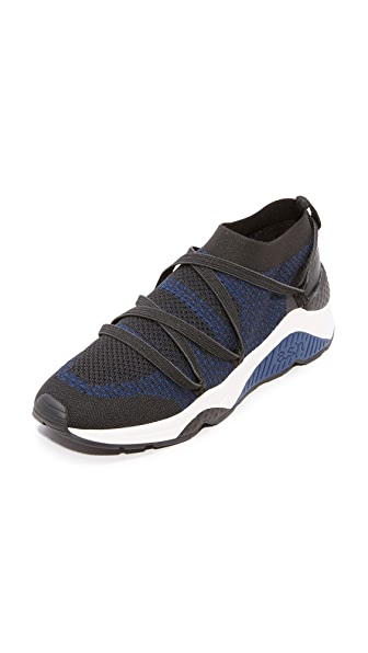 Ash Moby Knit Sneakers - Black/Ocean Blue