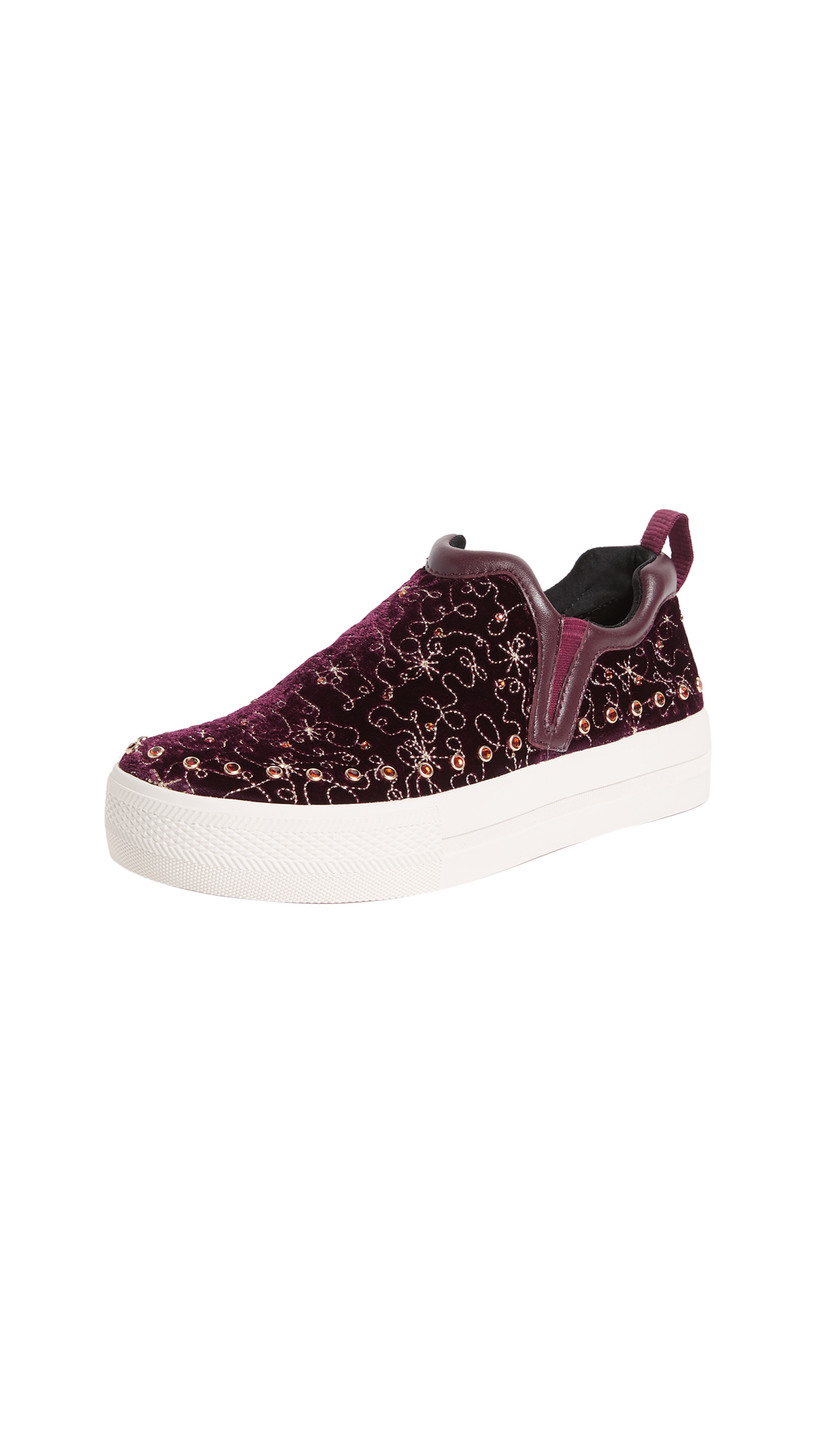 Ash Jetset Embroidered Sneakers - Bordeaux