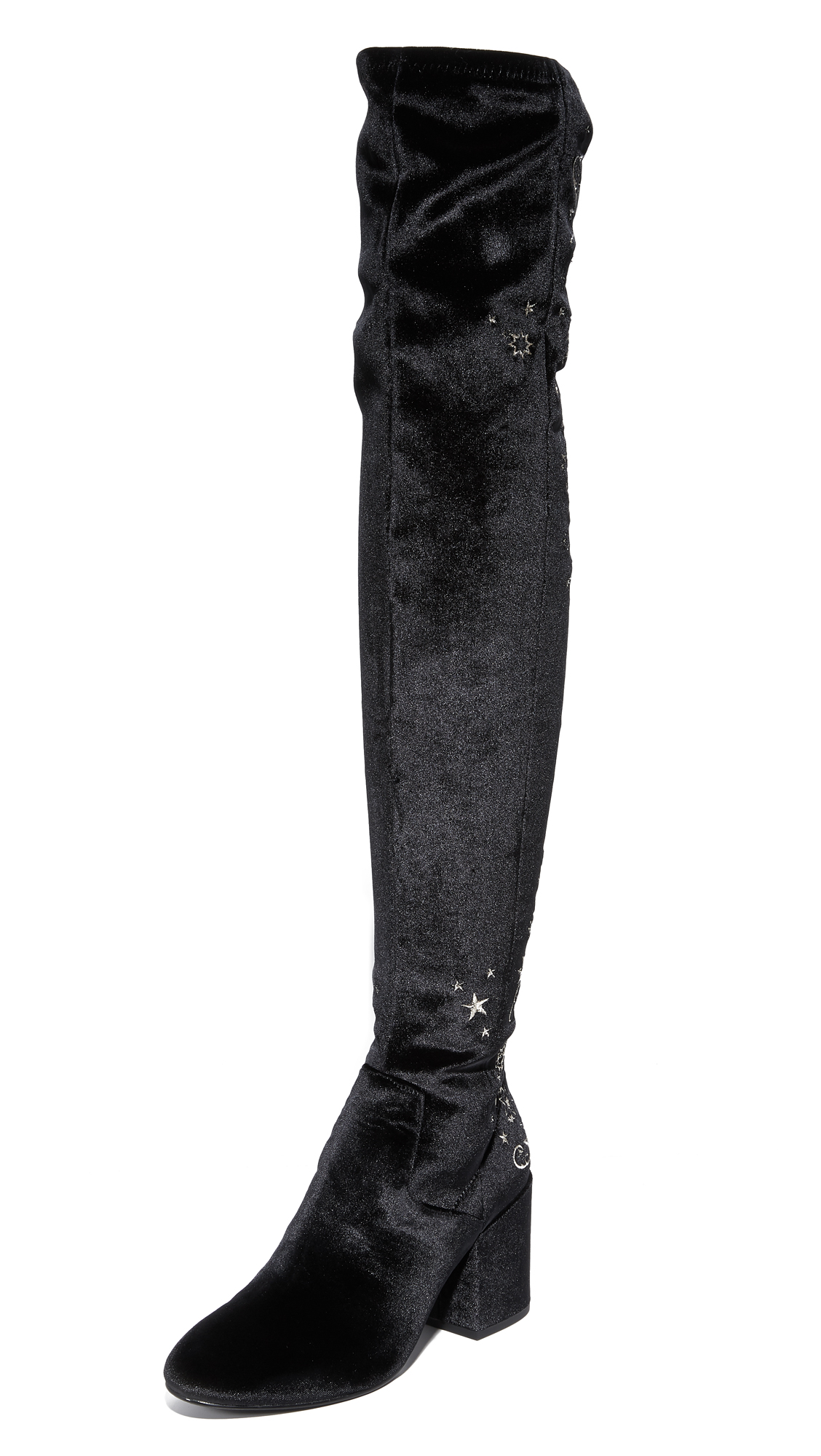 Ash Eros Over the Knee Boots - Black