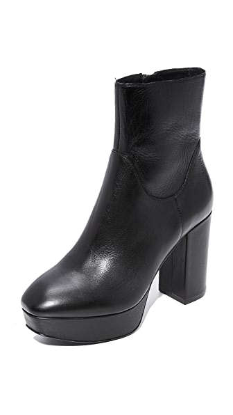 Ash Amazon Platform Booties - Black