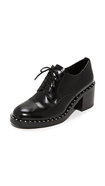 Ash Xenos Heeled Oxfords - Black