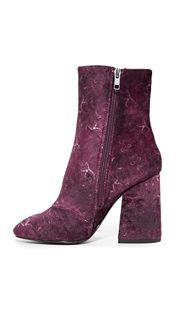 Ash Fedora Embroidered Booties